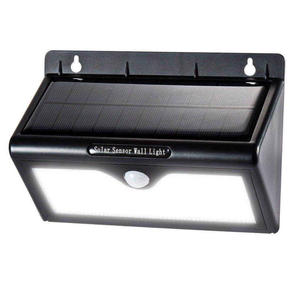Espow 46 leds PIR Motion Sensor LED โคมไฟติดผนังพลังงานแสงอาทิตย์ประหยัดพลังงานแสงสำหรับสวนถนนบ้านลานการรักษาความปลอดภัยโคมไฟ
