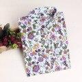 Camisa de gran Tamaño Multicolor Puede Elegir! 2016 de Otoño de las Nuevas mujeres Casuales de Manga Larga Camisa de Las Mujeres/women's camisa/Mayo de manga larga