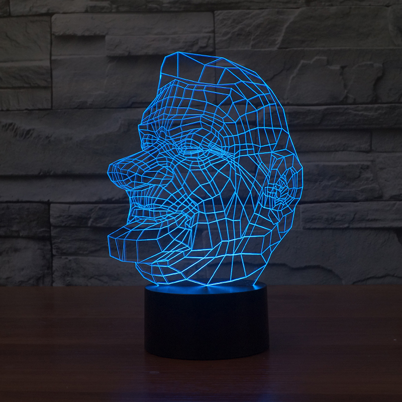 Led Lamps Hearty Newest Superman Spiderman 3d Led Colorful Usb Night Light Energy-saving Table Lamp Change Color Led Usb Light Kids Lamp
