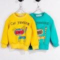 Idade 2-6 crianças 2016 primavera e no Outono Crianças Caxemira camisola das meninas dos meninos dos desenhos animados manga longa Camisola de lã ocasional outerwear
