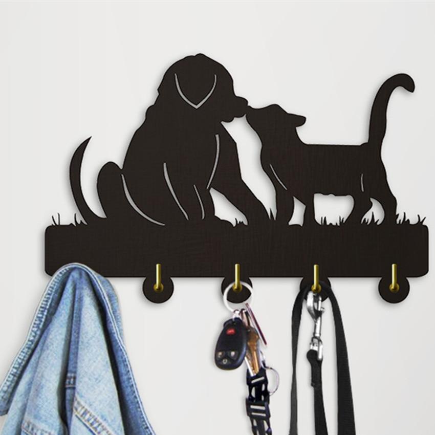 1 Stück Katze Und Hund Haken Wand Tür Kleidung Mantel Hut Aufhänger Küche Badezimmer Handtuch Haken Starke Klebrige Haken Bis Tier Wand Schienen Vertrieb Von QualitäTssicherung