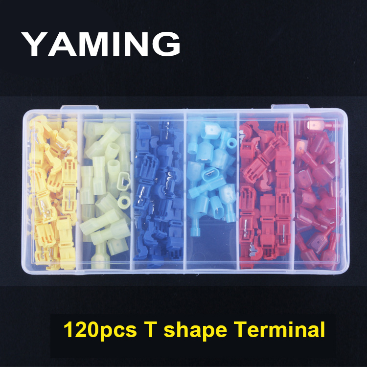 120PCS Terminal T SHAPE Conductor Quick Not Broken Wire Connector Branch Connect Terminals Universal Compact Wire Clamp P360