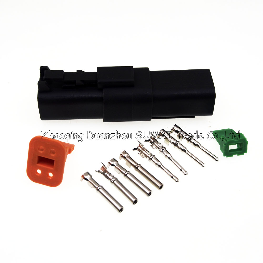 5 Sets Deutsch Dt06 4s And Dt04 4p 4pin Engine Waterproof 9 Pin Deutch Connector On Semi Trucks Electrical For Car Motorcycletruckboatsetc