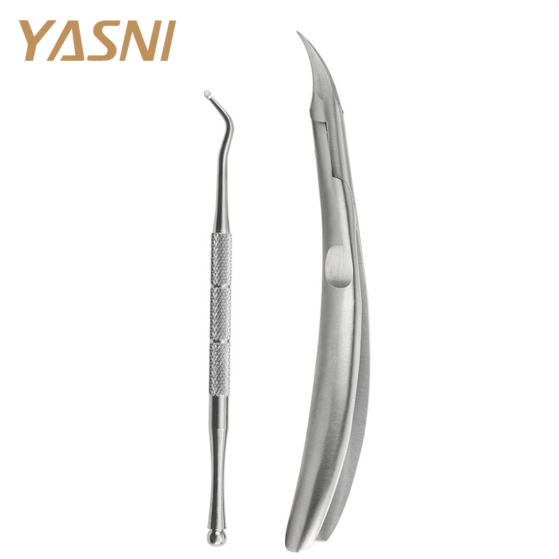 2st / set Silverfodral Tå Nail Clippers Trimmer Cutters Professionell Paronychia Nippers Kiropod Podiatry Foot Care FS44