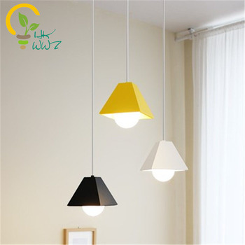 Modern Colourfull Iron Droplight Creative Arts Led Pendant Light Restaurant Cafe Bar Led Pendant Lamp Hanging lights Fixtures
