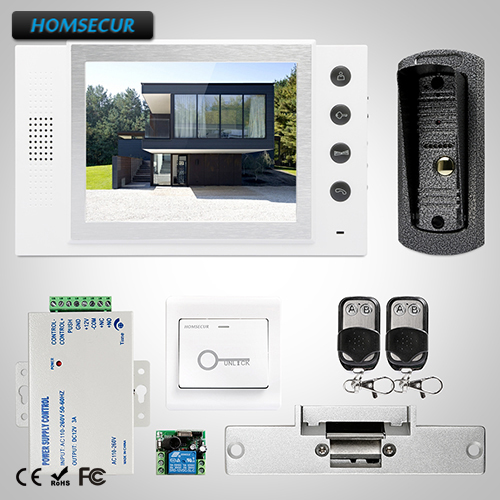 HOMSECUR 8 Wired Video Door Entry Security Intercom with Dual-way Intercom  TC041 +  TM801-WHOMSECUR 8 Wired Video Door Entry Security Intercom with Dual-way Intercom  TC041 +  TM801-W