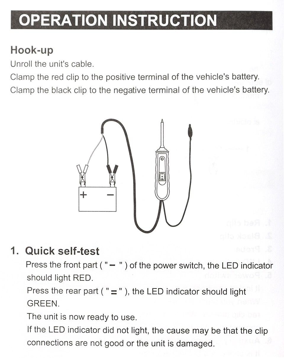 EM285 6-24V DC Probe/ Automotive Electrical Circuit Tester ...