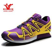 XIANGGUAN Woman Hiking Shoes Women Athletic Trekking Boots Purple Zapatillas Sports Hike Climbing Shoe Outdoor Walking