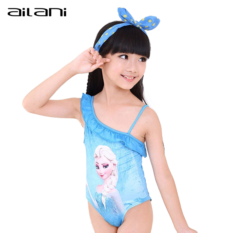 2a8a39e6652 Girls Swimwear Cartoon Elsa One Pieces For Toddler Girl Children Swimming  Costume Beachwear Moda Praia Infantil-in Childrenu0027s One-Piece Suits  From ...