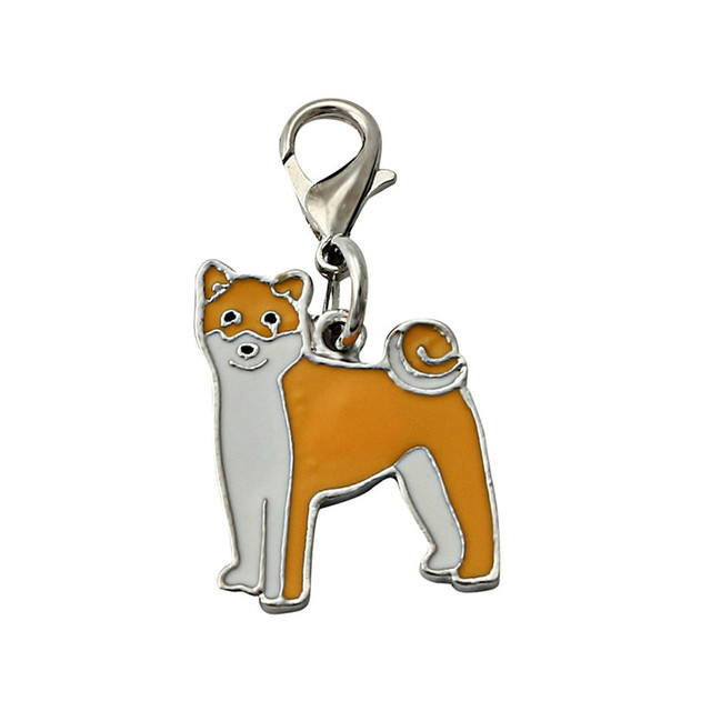 fashion shiba inu dog tag pet doggy id enamel accessories mini
