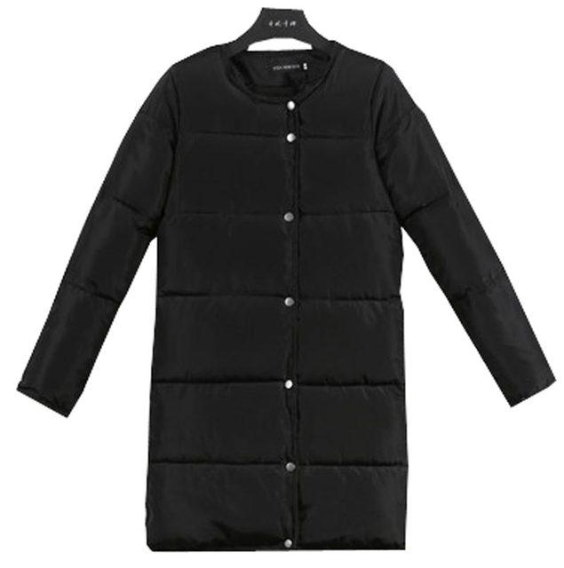 Nova algodão-acolchoado casacos de inverno mulheres casaco solto gola redonda fêmea de médio longo wadded jaqueta grossa para baixo parka casaco kp0743