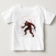 new Venom Edward Eddie Brock Spider-Man superman Marvel Comics boys 100% cotton T Shirt children summer Short sleeve shirt