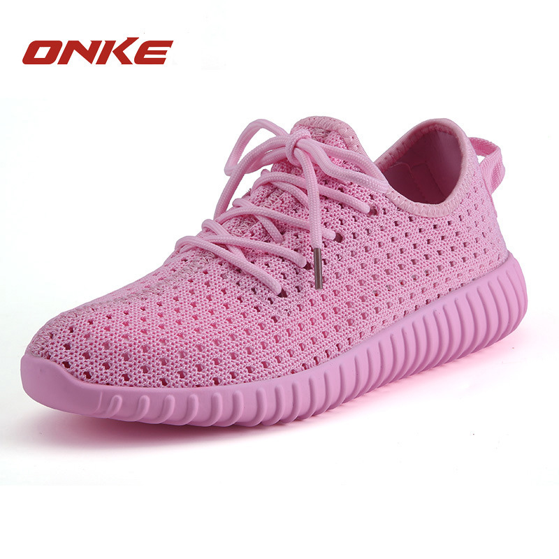 ФОТО White Running Shoes Women Breathable Outdoor Sports Shoes Cushioning Camping Women Running Shoes Ultra Light Trekking Sneakers