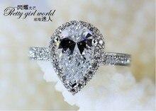 Victoria Wieck Impresionante Pear Cut diamante Simulado Esterlina 925 Plata Regalo de Compromiso Anillo de Boda Sz 5-11 Envío Libre