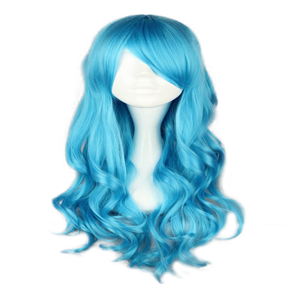 HAIRJOY Synthetic Hair Zipper 70cm Long Wavy Harajuku Lolita Cosplay Wig 18 Colors Available 2