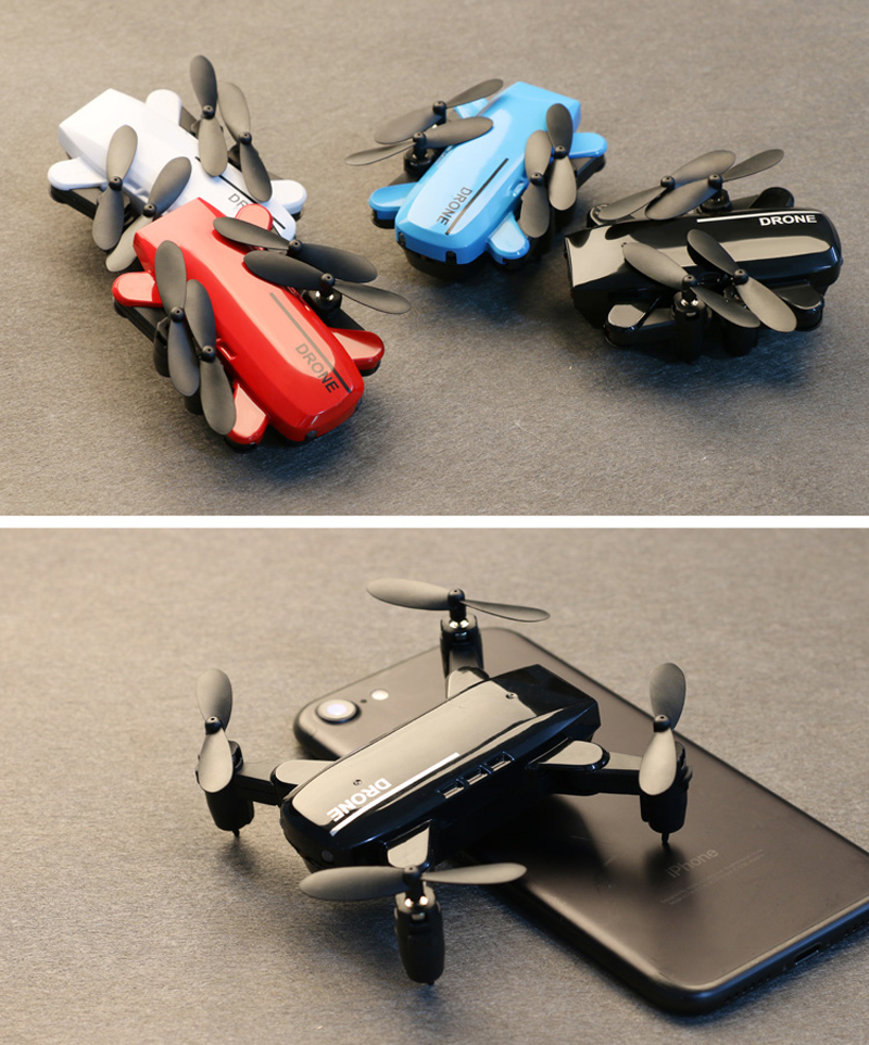 New Multifuction Foldable Mini Drone with Altitude Hold Gyro Drone Wifi Switchable Fixed Quadcopter 2.4Ghz Selfie Mini FPV RC Dr original jjrc h37 mini baby elfie 720p foldable arm wifi fpv altitude hold rc quadcopter rtf selfie drone vs eachine e52