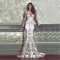 2019 New Women Maxi White Lace Dress XXXL Long Floral Transparent Sleeveless Back Open Dress Floor Length Lady Fashion CS 45