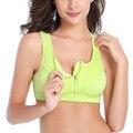 Moda de nova Camisa Mulheres Bras Fecho Acolchoado Conforto À Prova de Choque Sutiã Sem Costura Roupas Plus Size W1