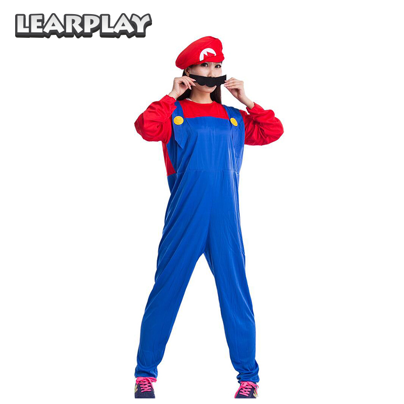 Anime Super Mario Odyssey Cappy Cosplay Bros Luigi Costume Adults Kids Halloween Party Birthday Funny Rompers Hats Moustache