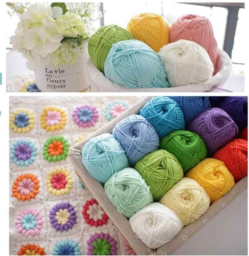 Ganchillo hilo de algodón de leche hilo de lana de bebé para tejer niños hilo de tejido a mano manta de juguete de punto