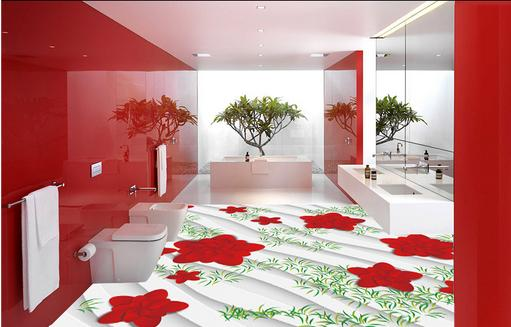 ФОТО 3d wallpaper customize 3d flooring safflower wallpaper 3d floor tiles for livingroom pvc self adhesive wallpaper
