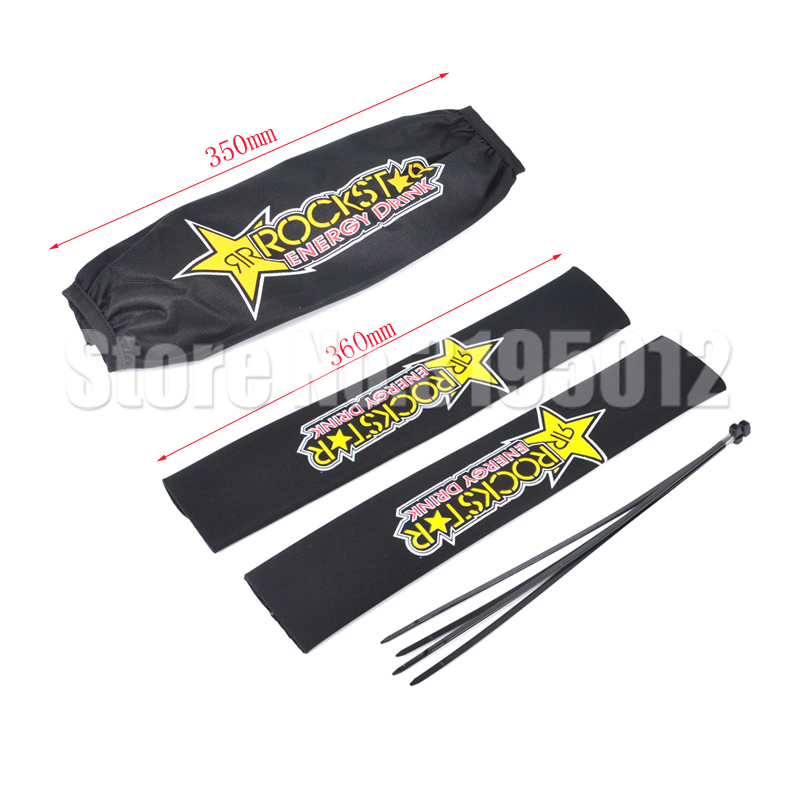Rockstar Front Fork Protector Rear Shock Absorber Guard Wrap Cover For CRF YZF KTM KLX Dirt Bike Motorcycle ATV Quad Motocross женские часы la mer collections lmstw5002