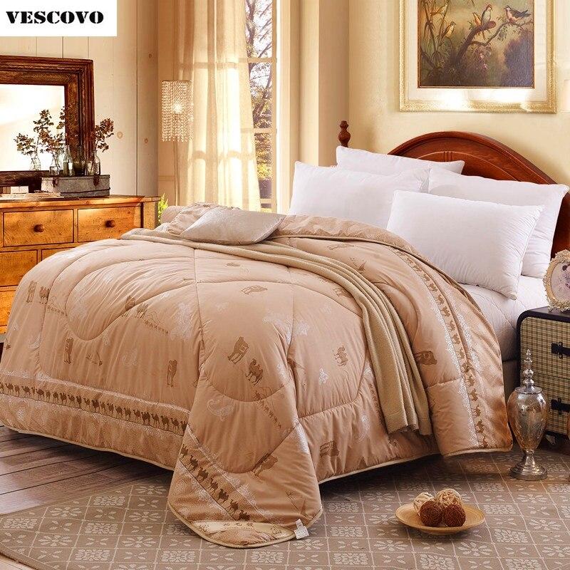Camel wool comforter warm winter australian hair wool quilt luxury thicken stitching comforter duvet blanket free