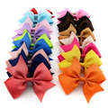 Set of 4 Boutique Hair Bows 3.5'' Grosgrain Ribbon Bows Without Clip Everyday Hair Bow for Headband Clips Girls Hair Accessory