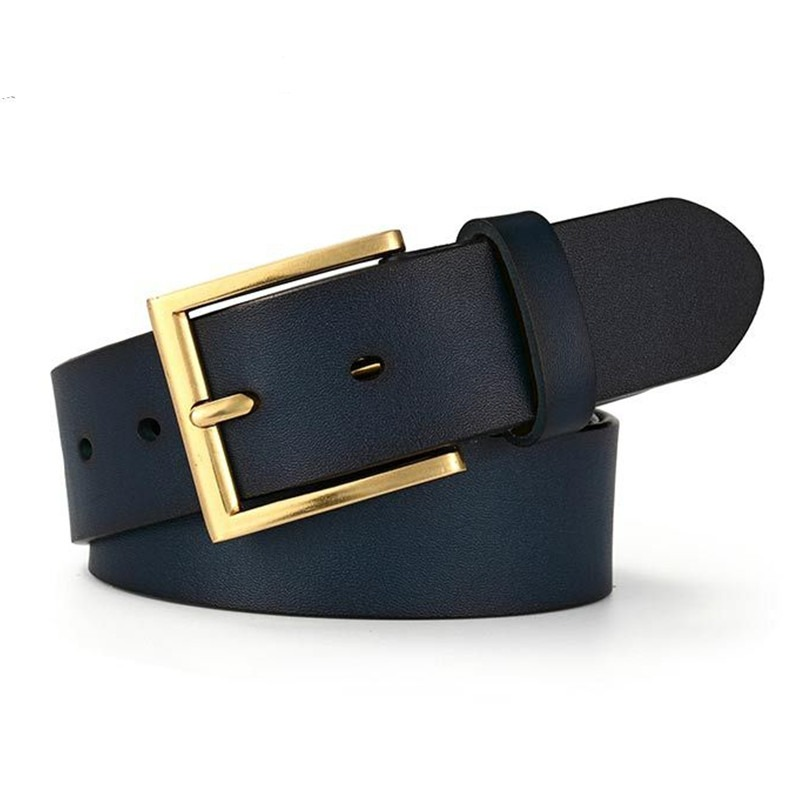 El Barco Cowhide Leather Belt Men Black Brown Luxury Brand Designer Male Belts Navy Blue Coffee Business Casual Waist Strap Back To Search Resultsapparel Accessories