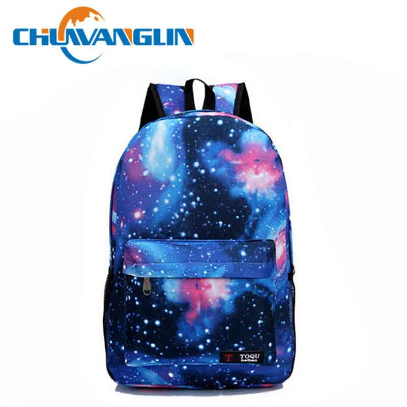 Chuwanglin Women Printing Casual Backpack Galaxy Stars Universe Space School Book Bag School Backpack For Teenagers Qg03205