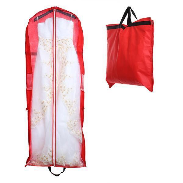 150*58cm Foldable Bridal Wedding Dress Gown Storage Bag Cover Handheld Bag  For Precious Garments