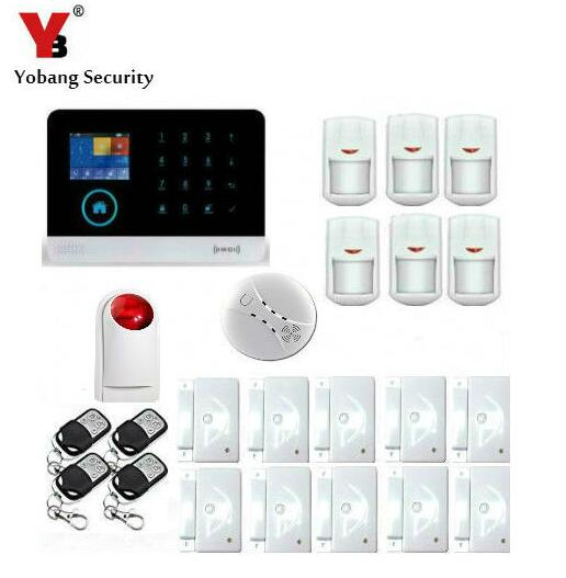Yobang Security- WIFI GSM Alarm With RFID Keyfobs Intelligent Anti-Theft Alarm Remote APP control SMS Residential Burglar Alarm yobang security rfid gsm gprs alarm systems outdoor solar siren wifi sms wireless alarme kits metal remote control motion alarm