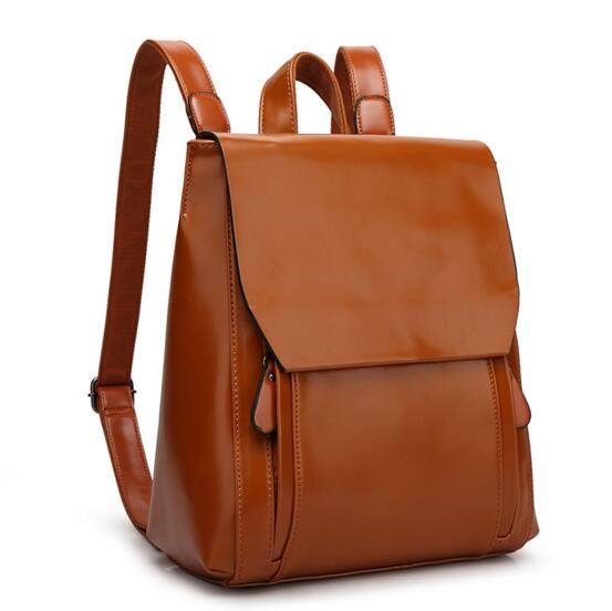 Fashion Women Leather Backpack For Girls 2017 Backpacks Black Backpacks Female Fashion Girls Bags Ladies Black