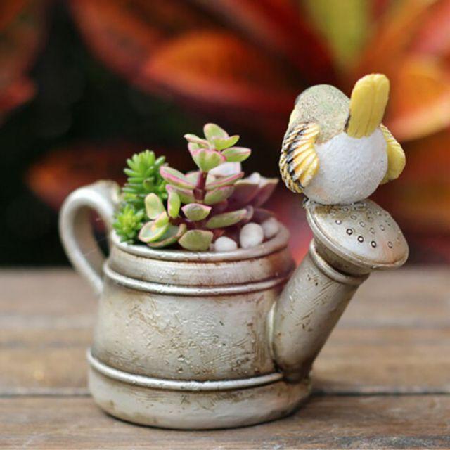 Cartoon Succulents Resin Flower Pots