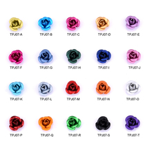10pcs new arrives 6mm 3d turquoise rose flowers nail art decoration DIY charms decor ongles designs nails accessories TPJ07