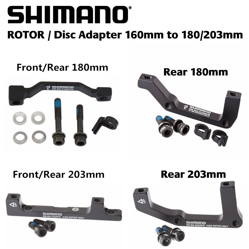 NEW Shimano R180P//S Disc Brake Adaptor