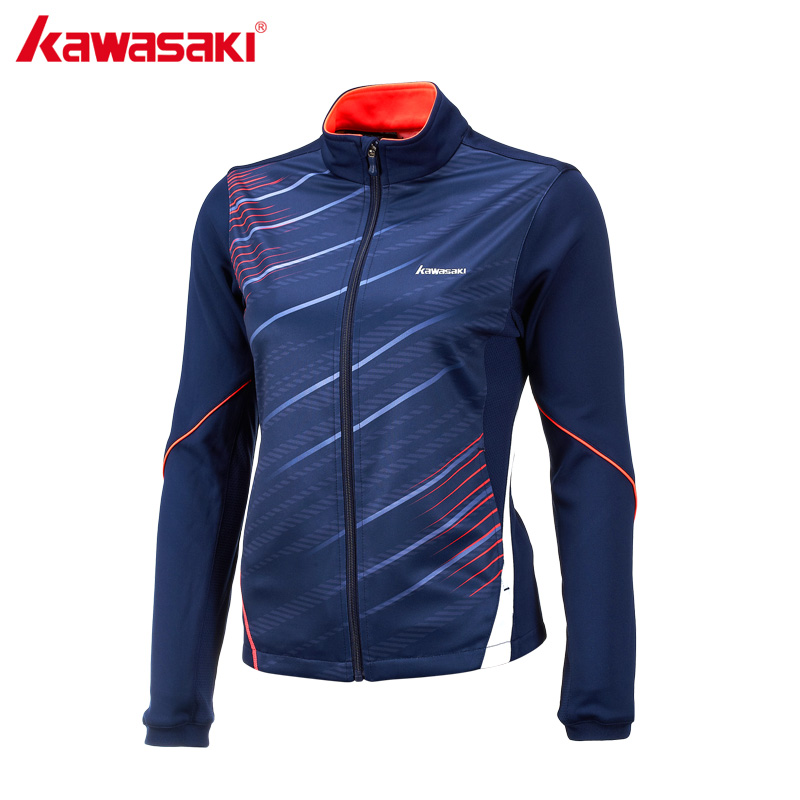Kawasaki Running Jackets for Women Breathable Quick Dry Badminton Tennis Training Clothing Fitness Sports Jacket Blue JK-17281