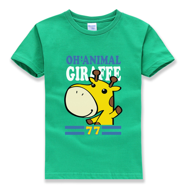 2018 summer new fashion brand homme t shirt boys tops tee shirt funny cute animal hipster children pullovers casual tshirt girl