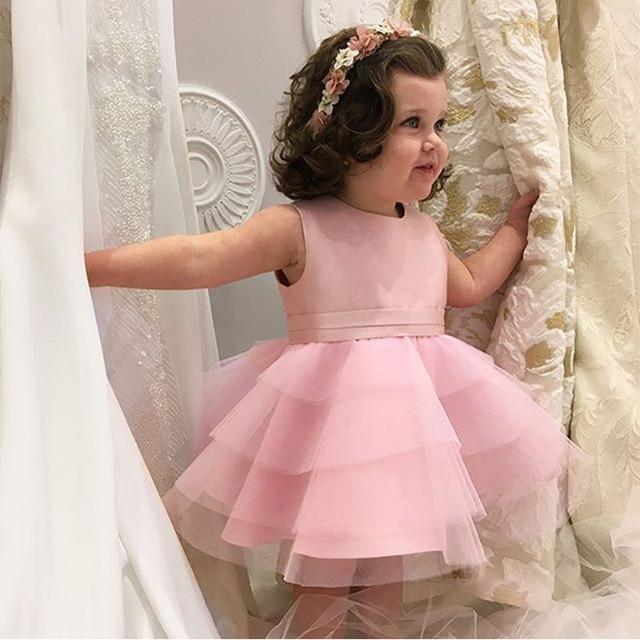 Lovely Pink Little Girl Party Kleid Kinder Abendkleider 2016 Tiered ...