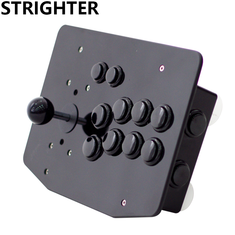 arcade joystick 10 buttons all black pc controller computer game Arcade Sticksss new King of fighters Joystick Consoles другие dhc proteindiet 15