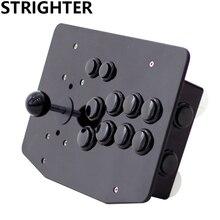 Аркады джойстик 10 кнопок все черный pc контроллер компьютерная игра Джойстик Аркады Sticksss новый Король бойцов Консолей