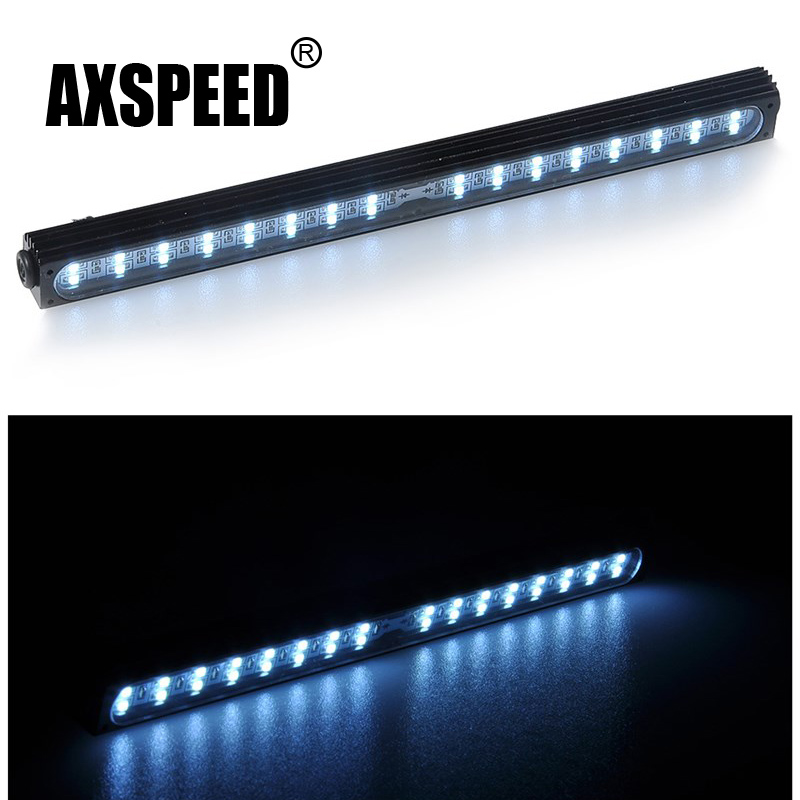 Free Shipping Metal LED Roof Lamp Light Bar for 1/10 RC Crawler Traxxas Trx-4 Trx 4 SCX10 90027 & SCX10 II 90046 90047 RC4WD D90