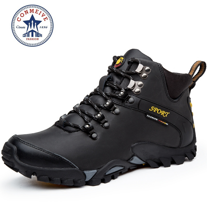 new hiking shoes outdoor boots senderismo sport sneakers men climbing waterproof sportive lace-up genuine leather Rubber regenbogen life эмден 645010401
