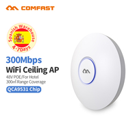 300Mbps 2.4G Indoor Home/Business AP Router WiFi Signal Hotspot Amplifier Repeater Long Range Wireless with 48V PoE Access Point