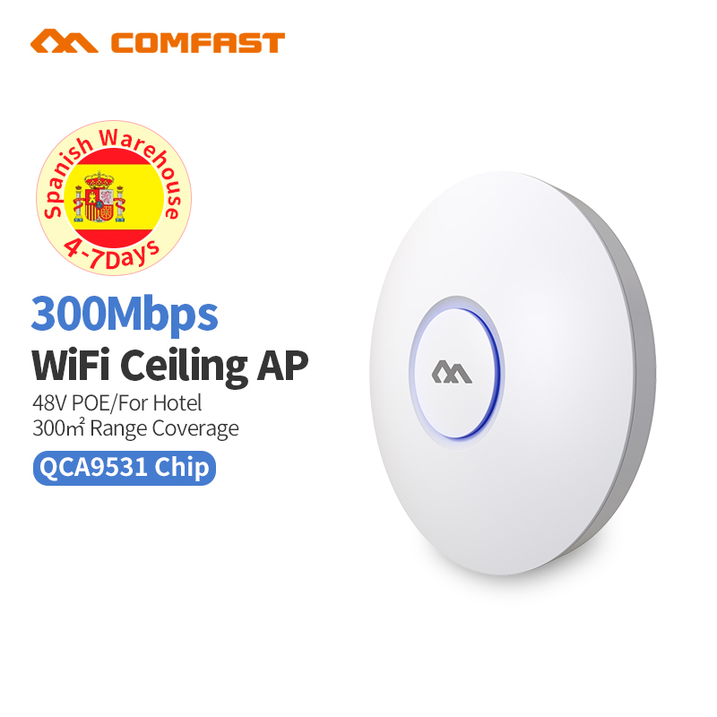 300Mbps 2.4G intérieur maison/entreprise AP routeur WiFi Signal Hotspot amplificateur répéteur longue portée sans fil avec Point d'accès 48V PoE