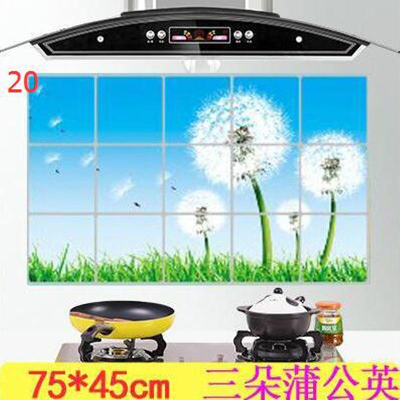 HTB1MzpBOXXXXXXXapXXq6xXFXXXg - kitchen Anti-smoke Decorative wall sticker Resistant to high aluminum foil tiles cabinet