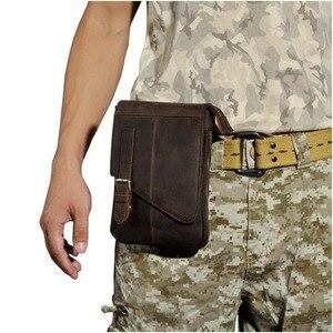Image 5 - Jakość mody prawdziwej skóry mężczyzna dorywczo wielofunkcyjny tornister w stylu listonoszki Tablet torba na ramię Fanny pas biodrowy mężczyzn 611 6 d