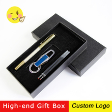 1set Crystal Signature Pen Multicolor Metal Ballpoint Pens Customized LOGO Engraving Name Business Office Gift With Box
