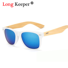 ロングキーパー女性木製サングラスpcフレームホワイトゴールドメガネ手作り竹サングラス男性oculosデソルfeminino KP 1501