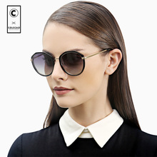 COLECAO Vintage Round Sunglasses Women Polarized Gradient Lens Uv400 Circle Lenses Premium Quality Glasses Female With Case 1231
